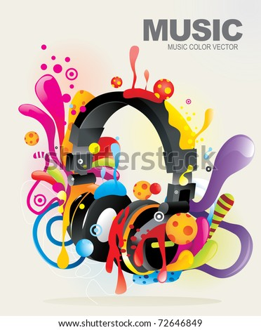 music abstract vector illustration