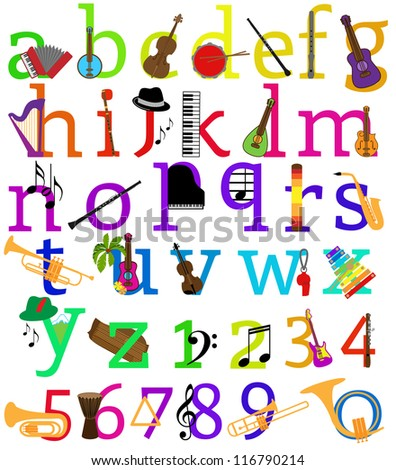 Music Alphabet - Other Matching Sets in Portfolio - stock vector