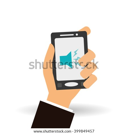 music and smartphone icon design, vector illustration
