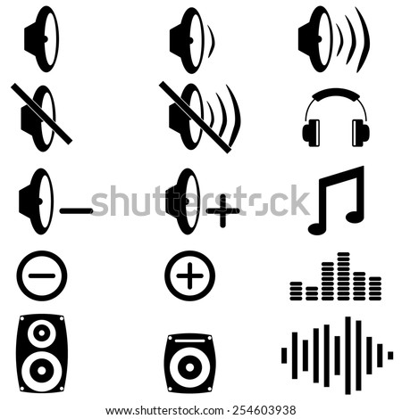 Music and sound icons - stock vector