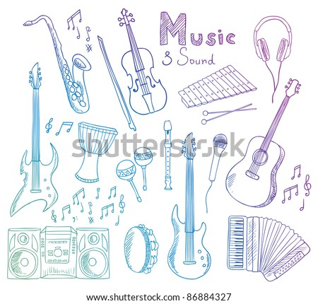 music and sound vector collection