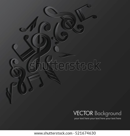 Music background. Classic music. Vector illustration