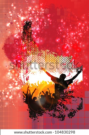 Music background for poster - stock vector