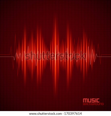 Music background with equalizer. Vector illustration - stock vector