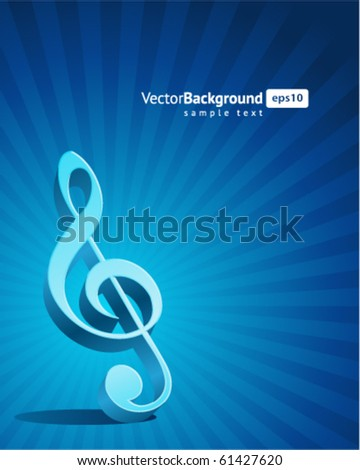 Music background with note. Eps 10 - stock vector