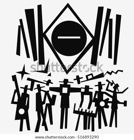 music band  abstract vector illustration