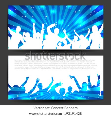 Music Banner Collection - Vector with place for your text