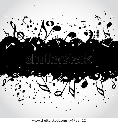 Music  black blot