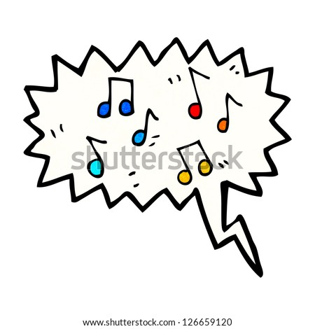 music cartoon - stock vector