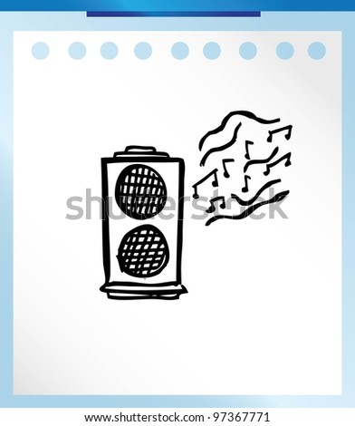 music cartoon - vector illustration doodle - stock vector