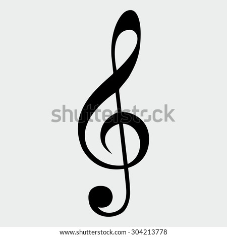 Music Clef - stock vector