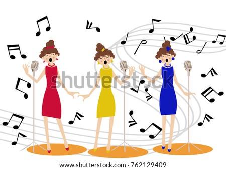 music clip art show business event chorus stock photo photo vector rh shutterstock com chores clip art for kids choral clip art