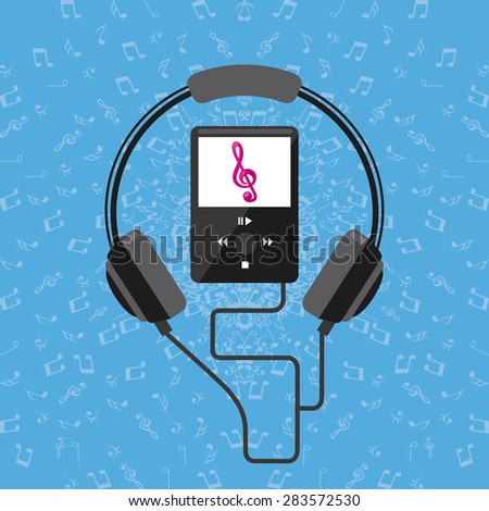 music concept design, vector illustration eps10 graphic