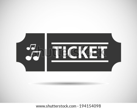 Music Concert Tickets - stock vector