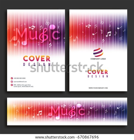 Music Cover Design Flyer Template Website Stock Vector Hd Royalty