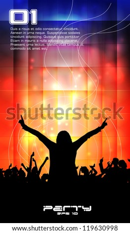 Music dance background - stock vector