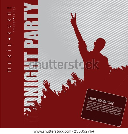 Music dance background for poster, vector
