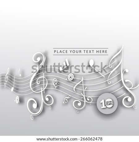 Music design elements, vector illustration - stock vector