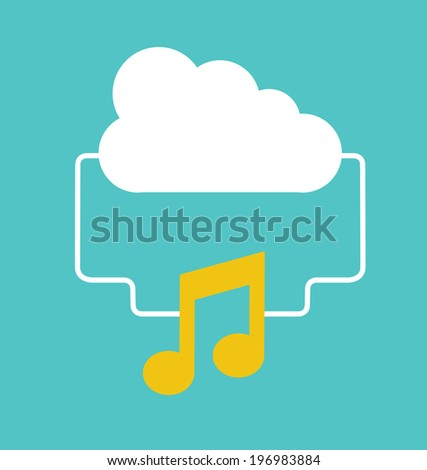 Music design over blue background, vector illustration