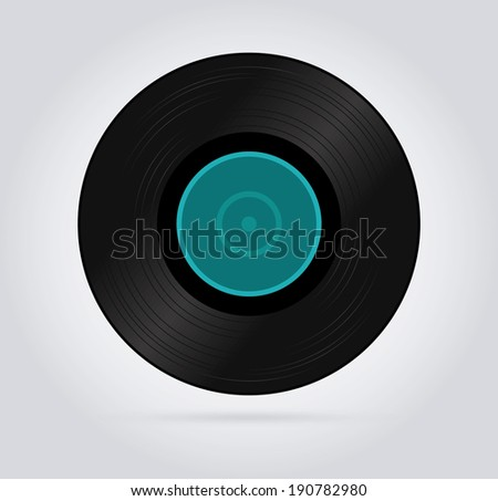 Music design over gray background, vector illustration