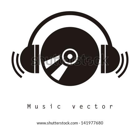 music design over white background vector illustration - stock vector