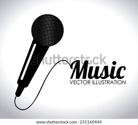 Music design over white background,vector illustration