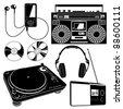 Music Device Set - stock photo