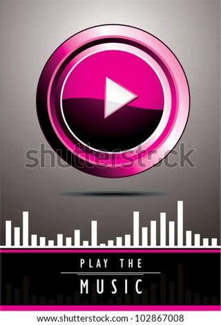 Music element.vector illustration - stock vector