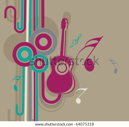 Music elements design, vector illustration. - stock vector