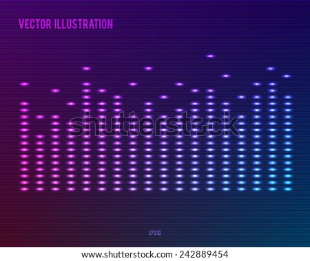 music equalizer - Sound waves abstract -  background for different joyful events. Vector illustration eps 10 can be used presentation template, brochure layout page, cover  magazine