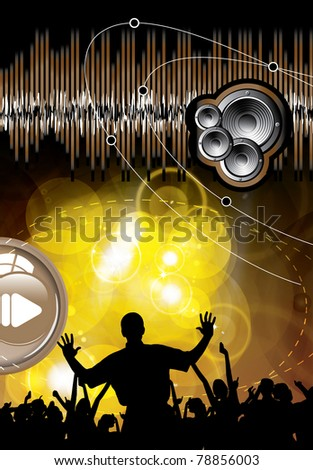 Music event - stock vector