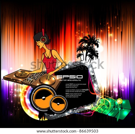 Music event background illustration