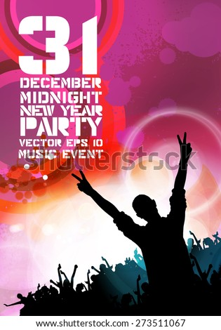 Music event background, vector
