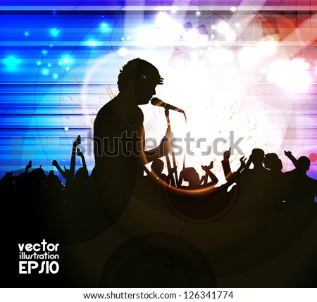 Music event background. Vector eps10 illustration