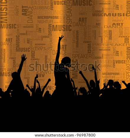 Music event background. Vector eps10 illustration. - stock vector