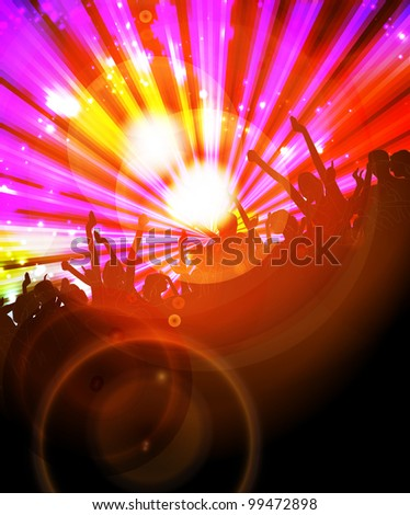 Music event background. Vector illustration. - stock vector