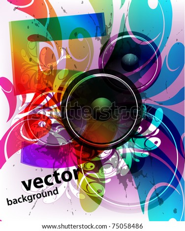 Music Event grunge background. - stock vector