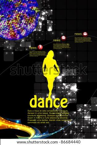 Music event illustration. - stock vector