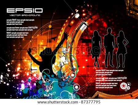 Music event illustration - stock vector
