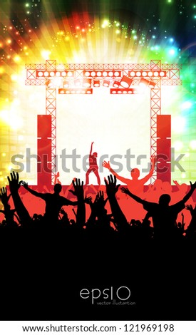 Music event illustration. Vector