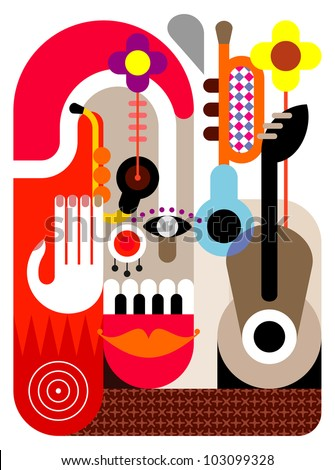 Music Festival - abstract vector illustration. - stock vector