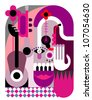 Music Festival - abstract vector illustration. Color poster, placard. Design background. - stock photo