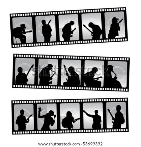 music filmstrip - stock vector