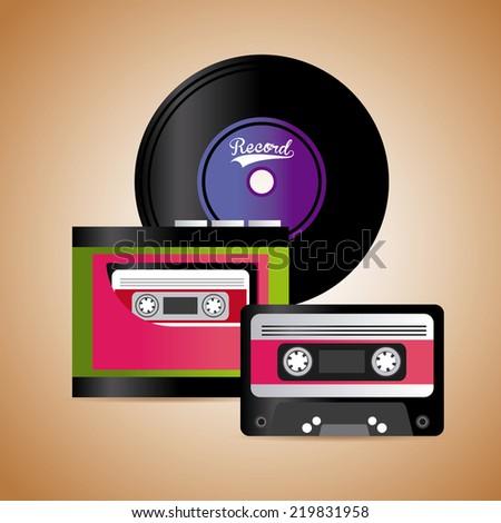 music graphic design , vector illustration - stock vector