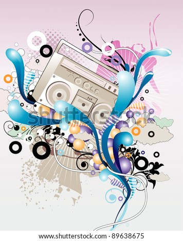 music grunge color vector