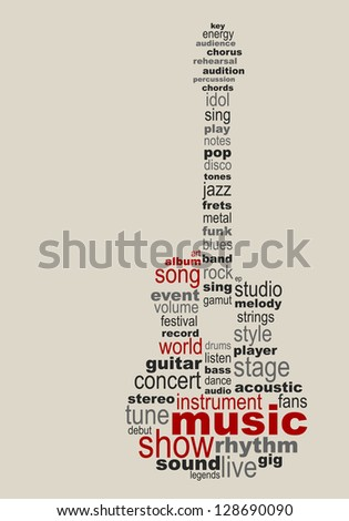 Music guitar concept - stock vector