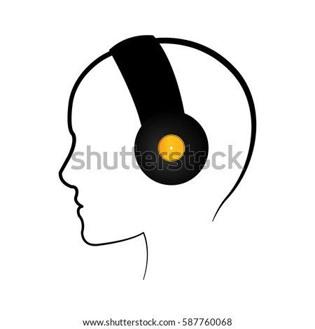 Music headphones device icon vector illustration graphic design