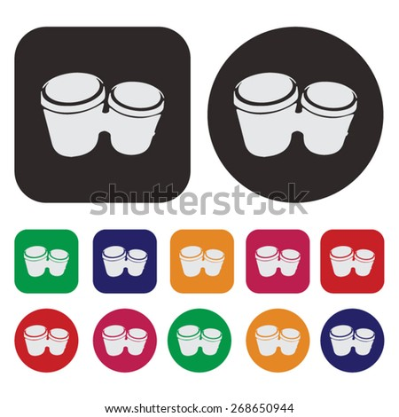 Music icon / bongo icon - stock vector