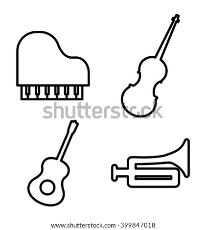 Music icon design, vector illustration