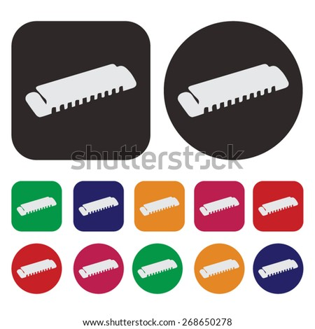 Music icon / harmonica icon - stock vector